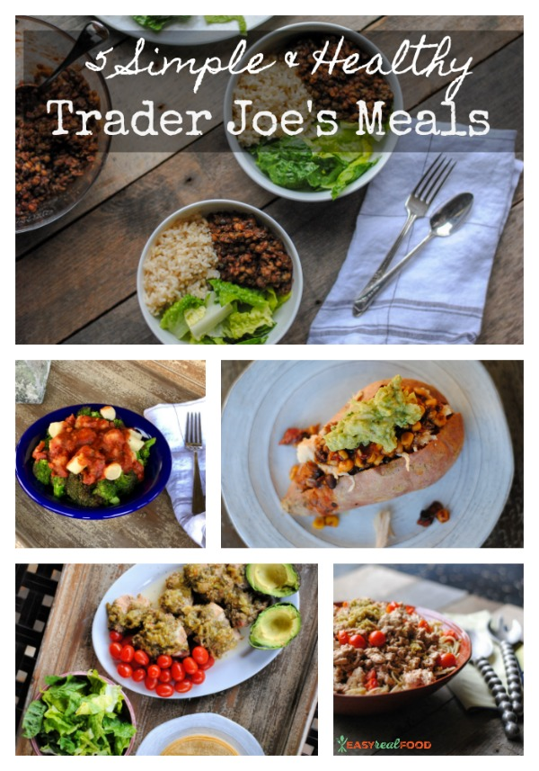5 simple & healthy trader joe's meals - easy dinners