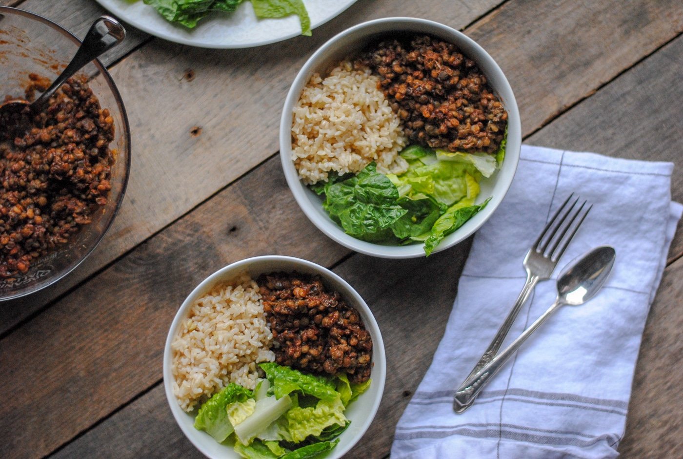 BBQ Lentils & Rice - Easy Healthy Meals from Trader Joe's - #easydinner #healthydinner #healthy