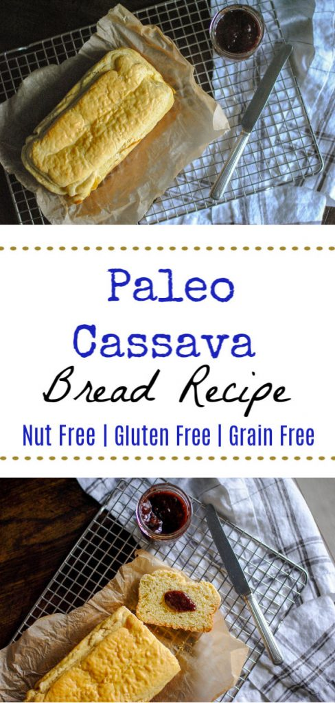A simple recipe for paleo, nut-free and grain free bread.