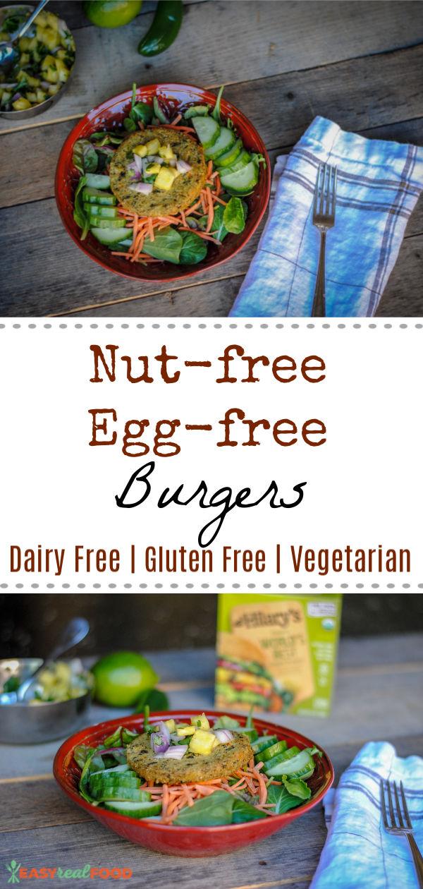 nut free egg free burgers - #allergyfriendly #nutfree #glutenfree