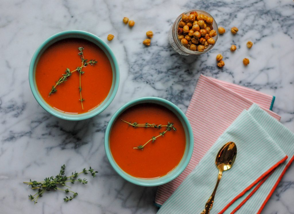 Vegan Instant Pot Tomato Soup - A healthy tomato soup recipe