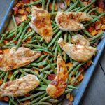 sheet pan honey mustard and chicken - a healthy #onepan meal