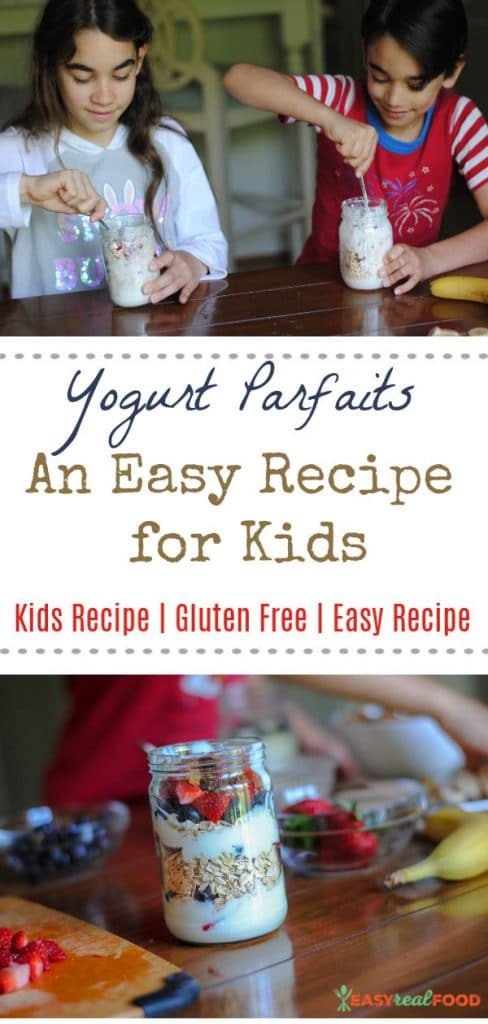 Kids can cook! An easy recipe for kids: yogurt parfaits