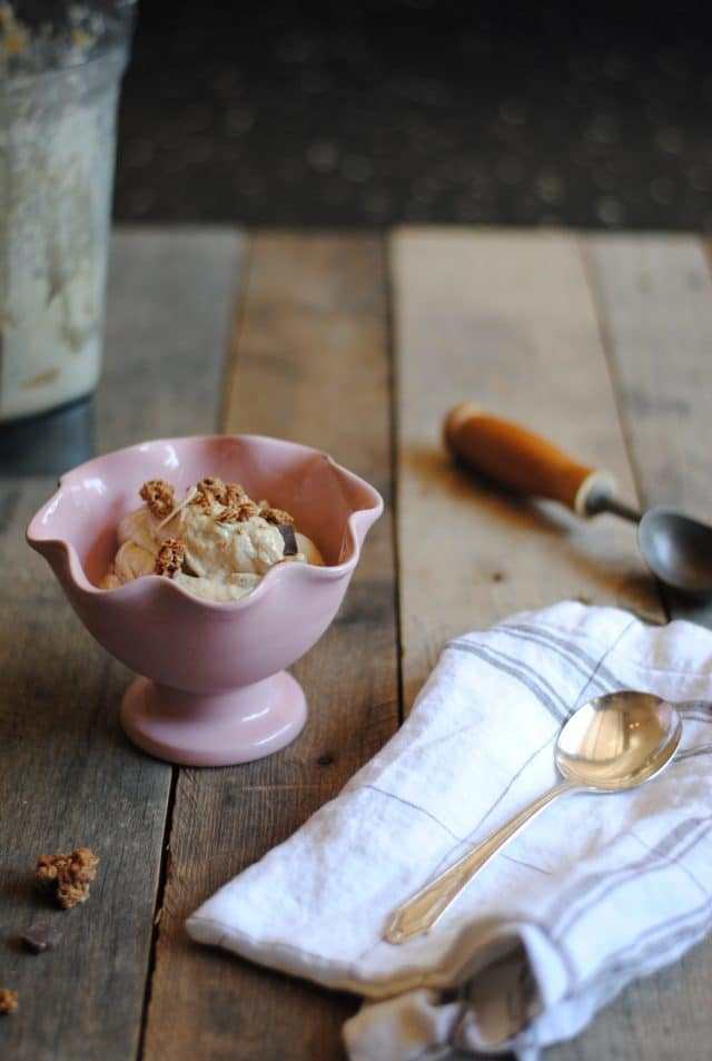 Easy Tahini Ice Cream - dairy free, nut free and made with no refine sugars
