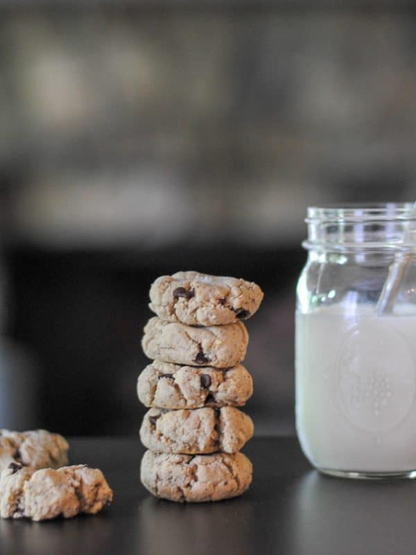 Salted Chocolate Chip Tahini Cookies: grain free cookies