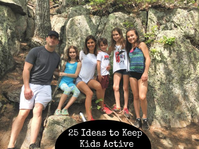 family hiking - 25 ideas to keep kids active. #fitam #familyactivities