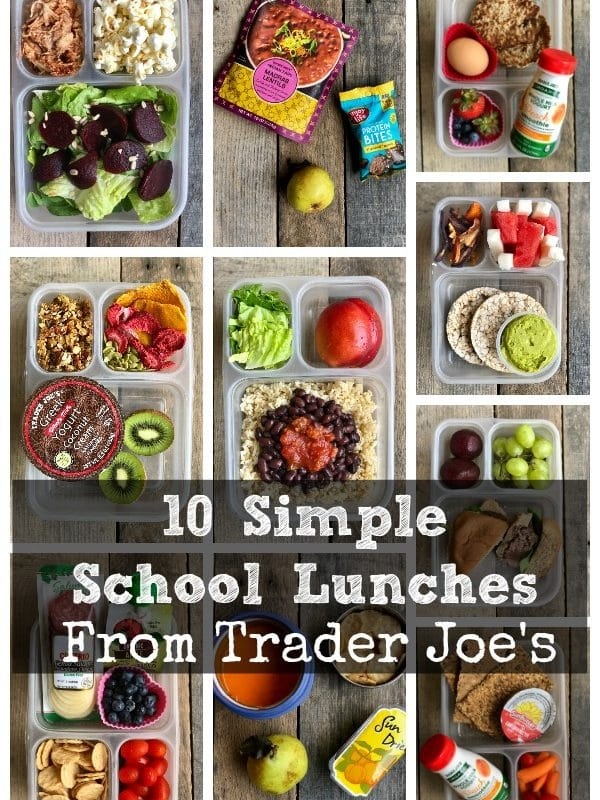 10 Simple School Lunches from Trader Joe's - #schoollunches #healthyschoollunch #healthykids #traderjoes #healthytraderjoes
