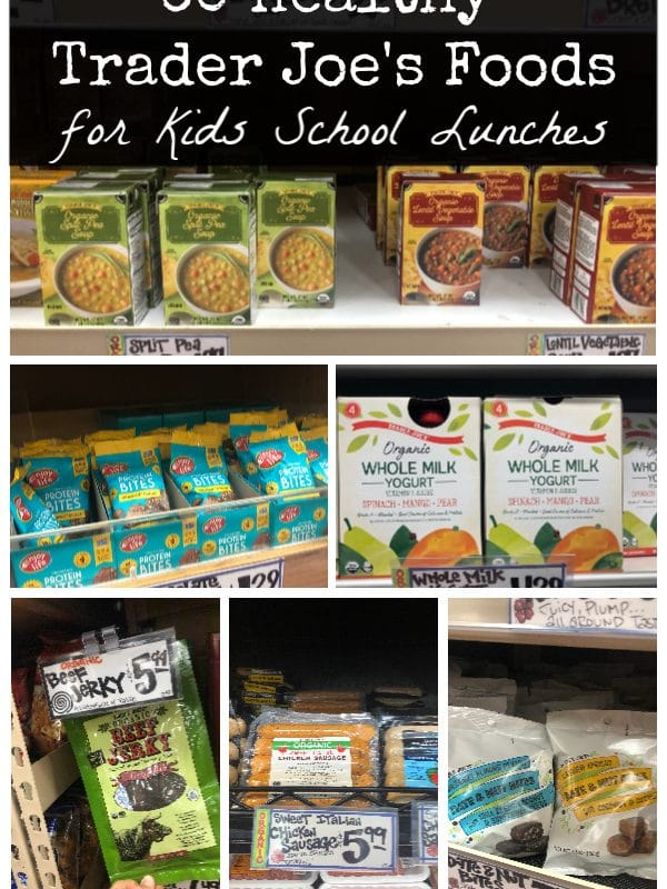60 Healthy Trader Joe's Foods - all of the back to school favorites for kids from Trader Joe's.