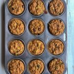 Easy healthy paleo zucchini chocolate chip muffins: coconut flour muffins