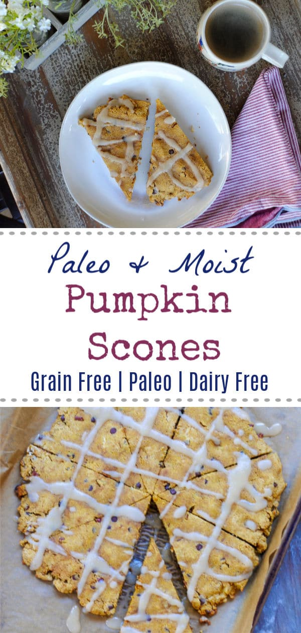 Paleo Pumpkin Scones made with coconut flour and cassava flour