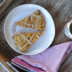 Delicious and easy paleo pumpkin scones with a paleo maple drizzle.