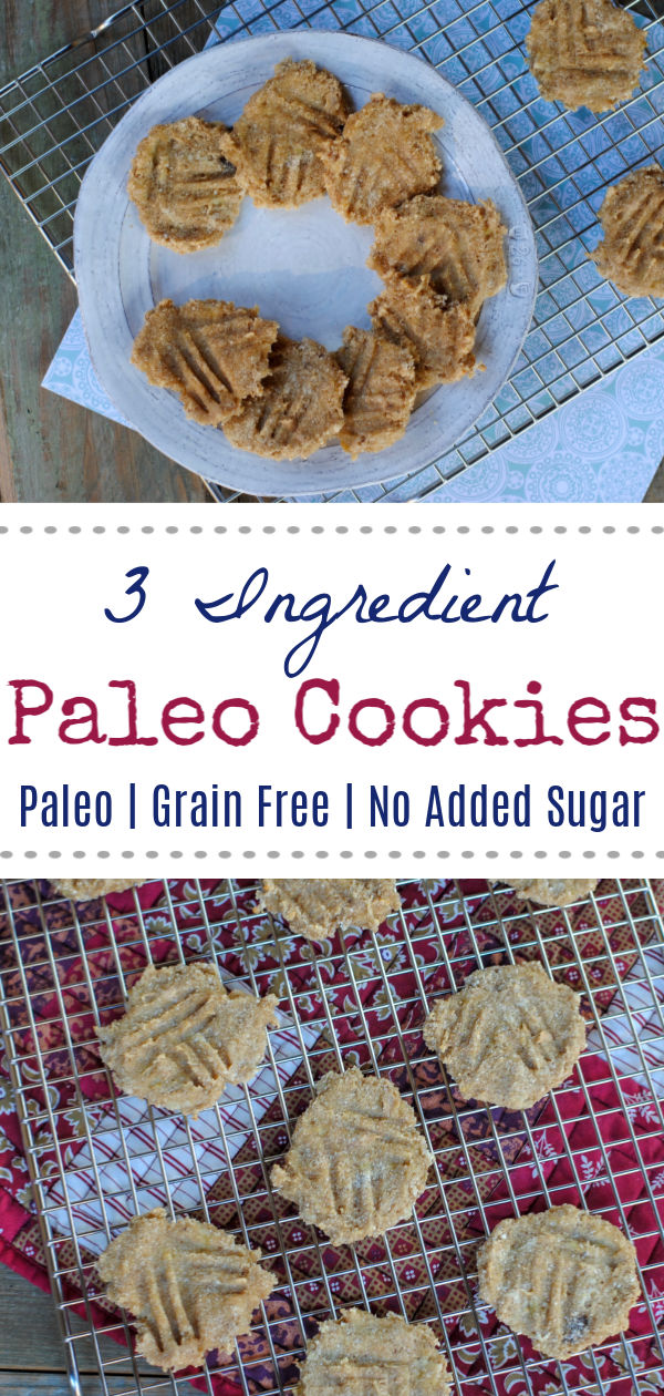 3 Ingredient Cookies (Paleo + Egg Free) - #easyrealfood #paleocookie