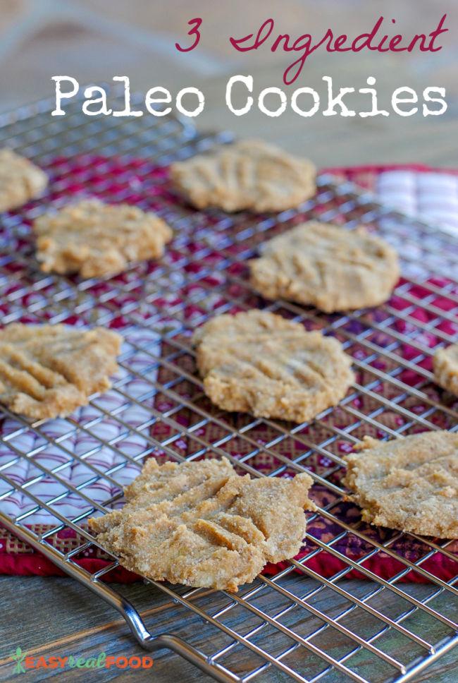 3 ingredient banana cookies. Paleo and egg free. #easyrealfood