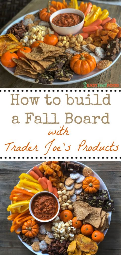 How to Build a Fall Board with Trader Joe's Products - #platters #healthyplatters