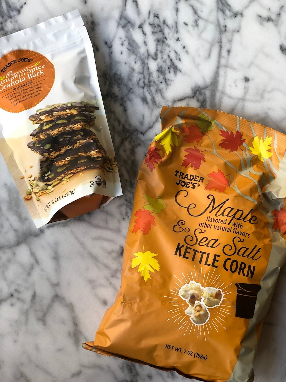 Fun new products from Trader Joe's make an easy fall board