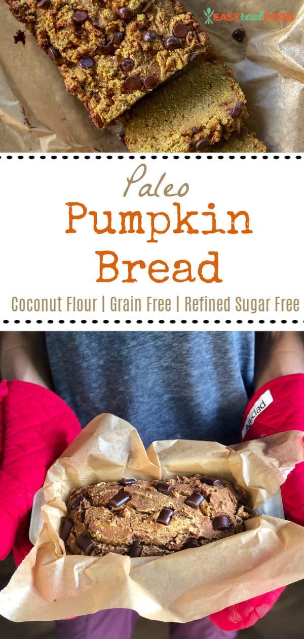 Paleo pumpkin bread with coconut flour