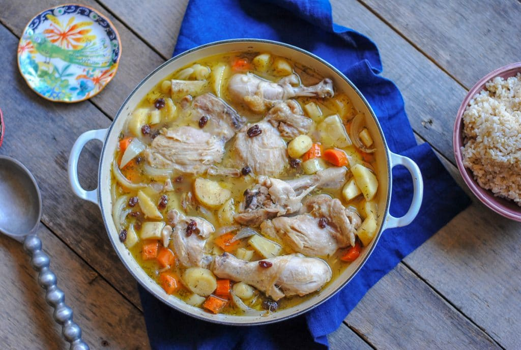 apple cider chicken and parsnips stew - a tasty fall recipe
