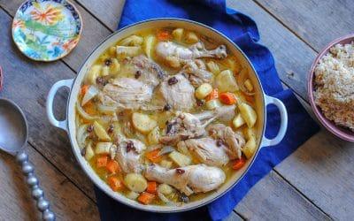 Apple Cider Chicken Stew with Parsnips