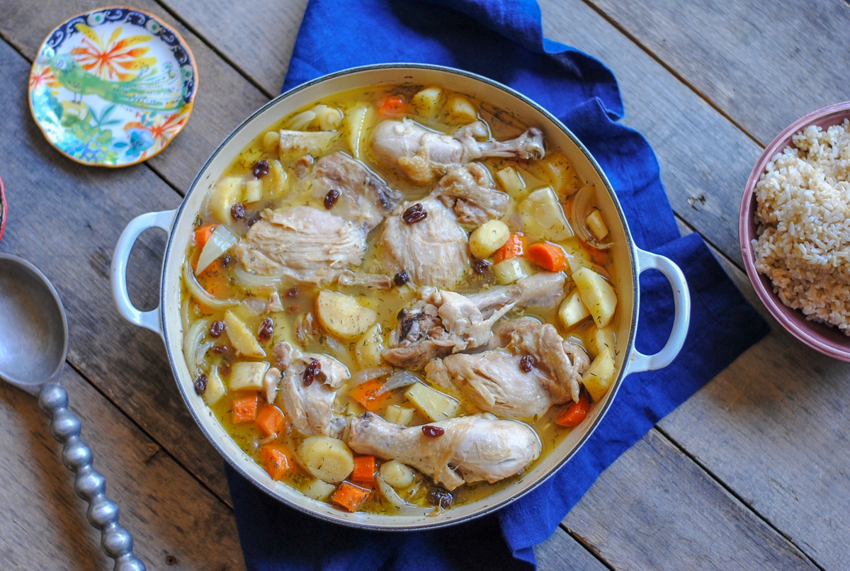 apple cider chicken and parsnips stew - easyrealfood.com