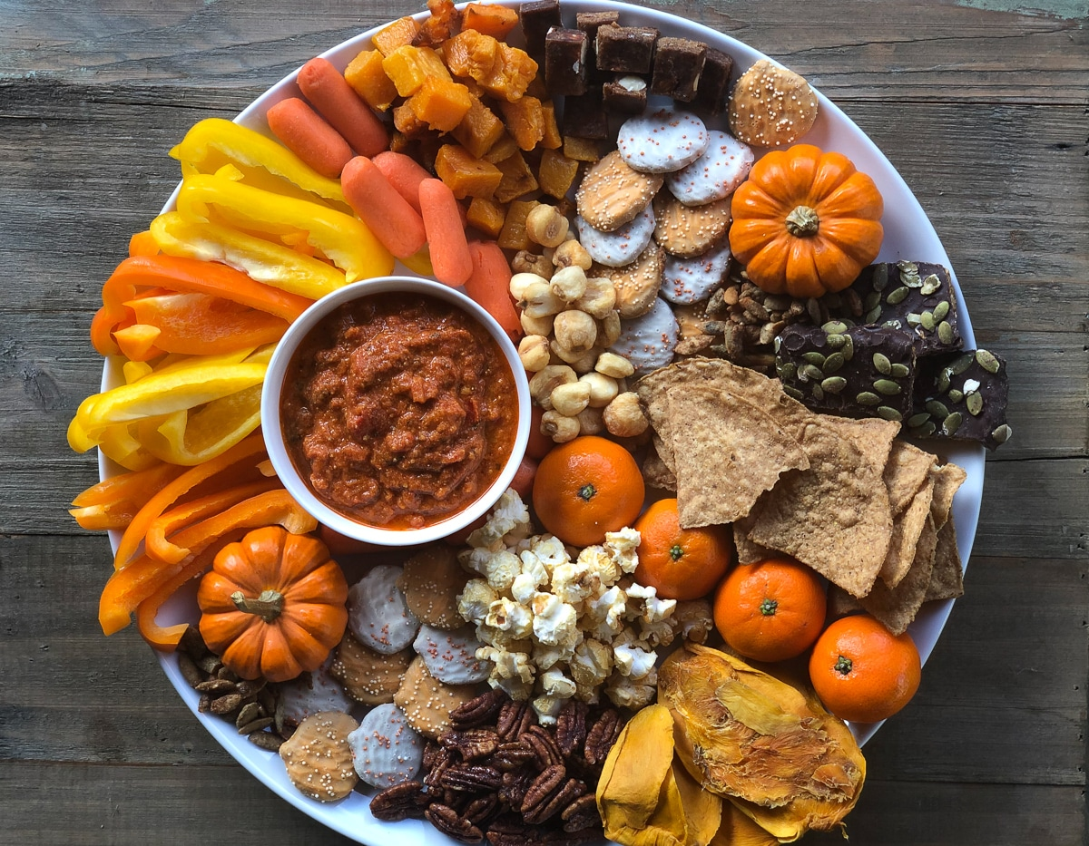 How to build a fall board with Trader Joe's Products #dairyfree