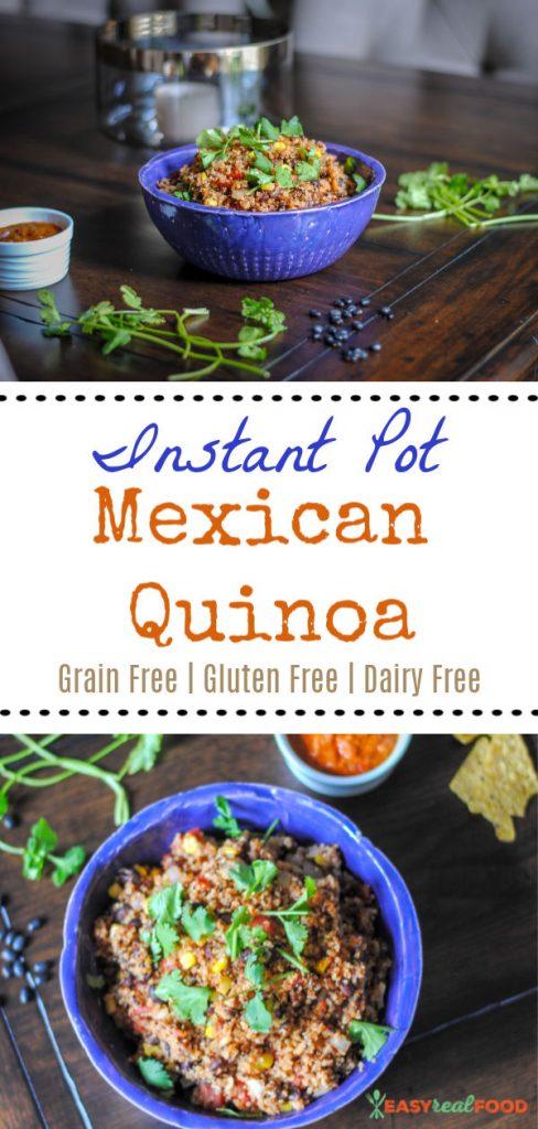 Instant Pot Mexican Quinoa Recipe #instantpotrecipe #pressurecooker