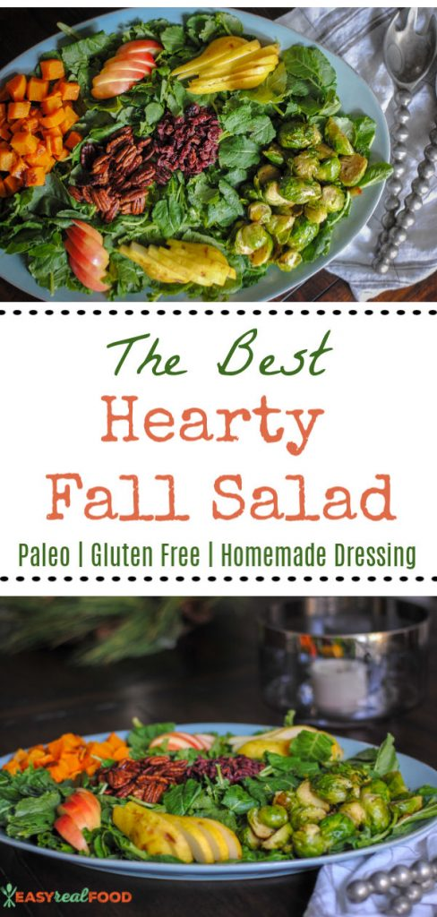 The best hearty fall salad recipe with a homemade dressing