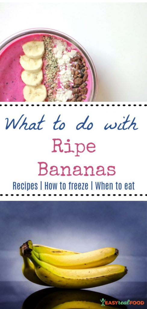 8 uses of ripe bananas - #bananarecipes #bananas #ripebananas
