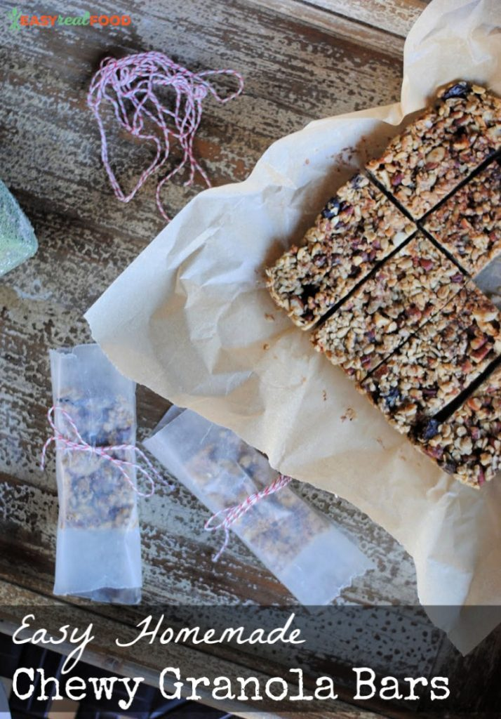 No bake Easy homemade chewy granola bar recipe