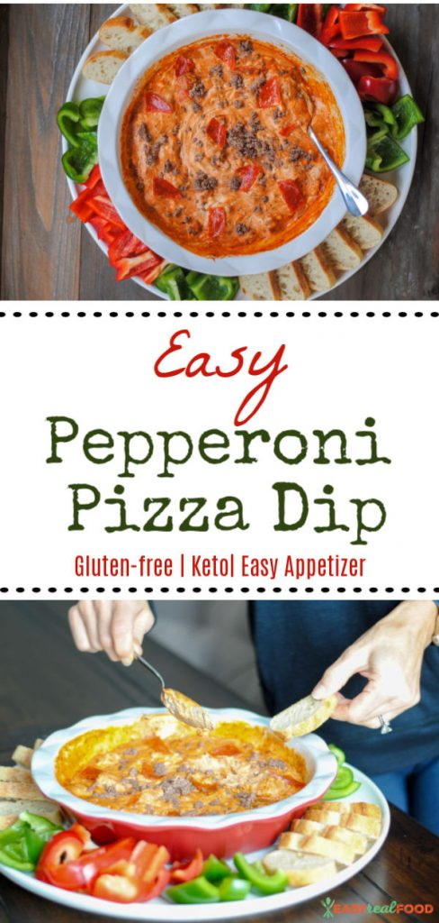 Easy pepperoni pizza dip - football food
