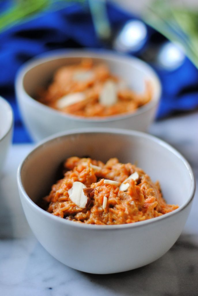 Simple dairy free carrot pudding