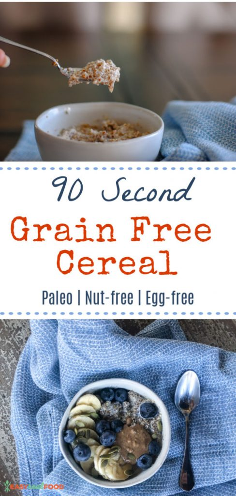 90 Second Grain Free Cereal - nutfree and eggfree