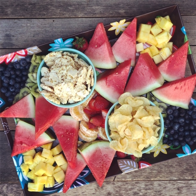 A fun summer-themed platter - perfect for the pool!