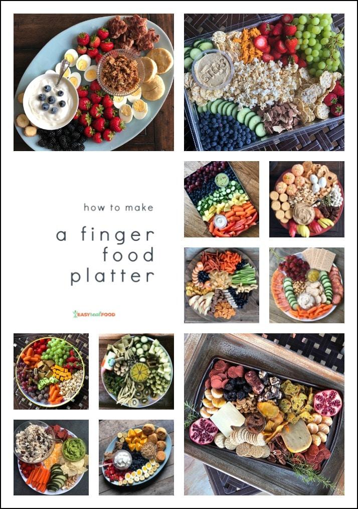 How to Make a Finger Food Platter - easy appetizer