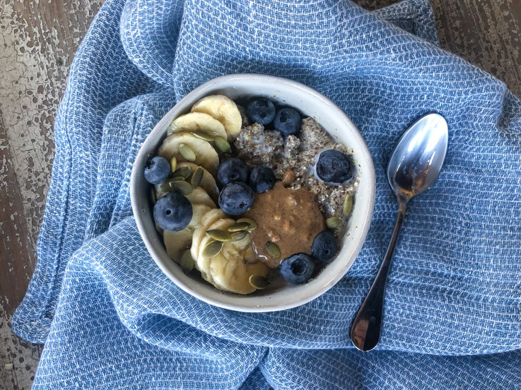 A gluten free dairy free egg free breakfast