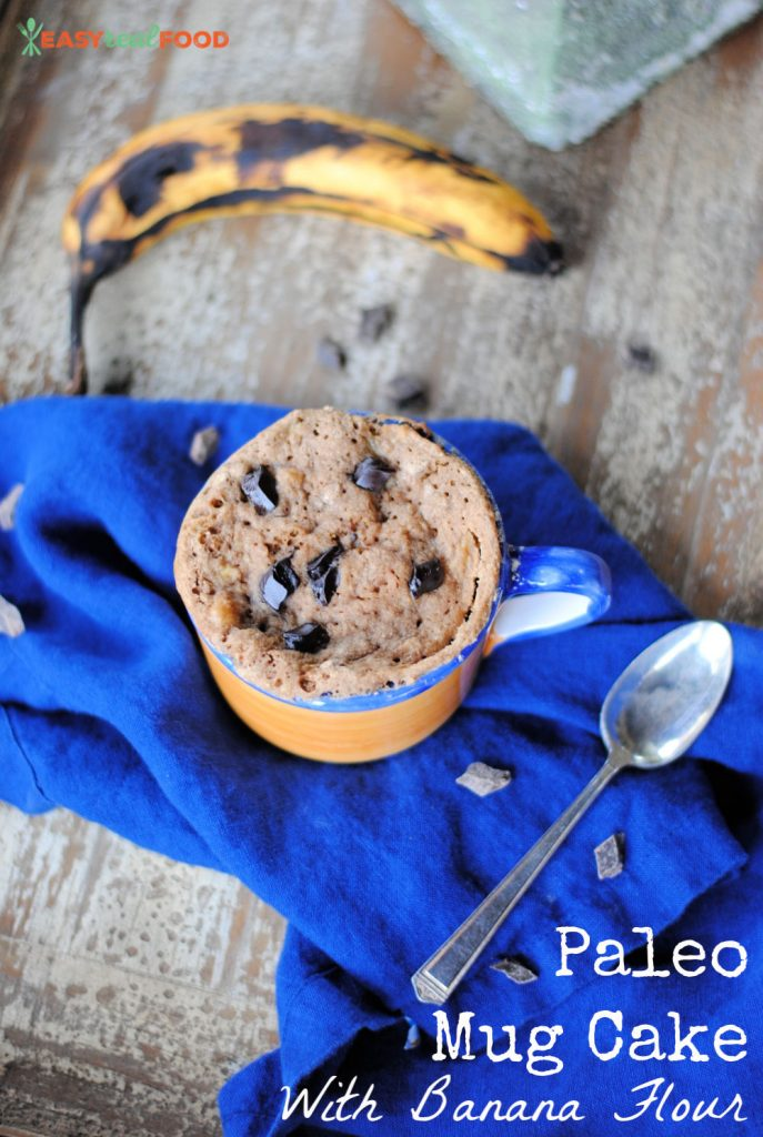 Paleo Mug Cake Recipe - grain free and made with banana flour