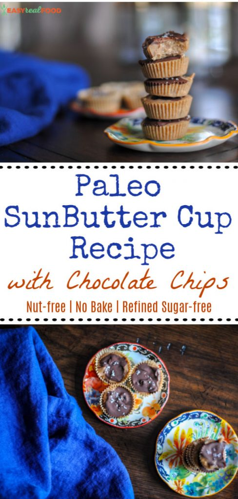 Paleo SunButter Cup Recipe with Chocolate Chips - no bake