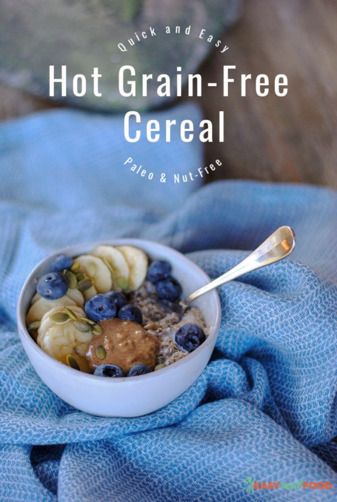easy 90 second grain free cereal - no oats and nut-free