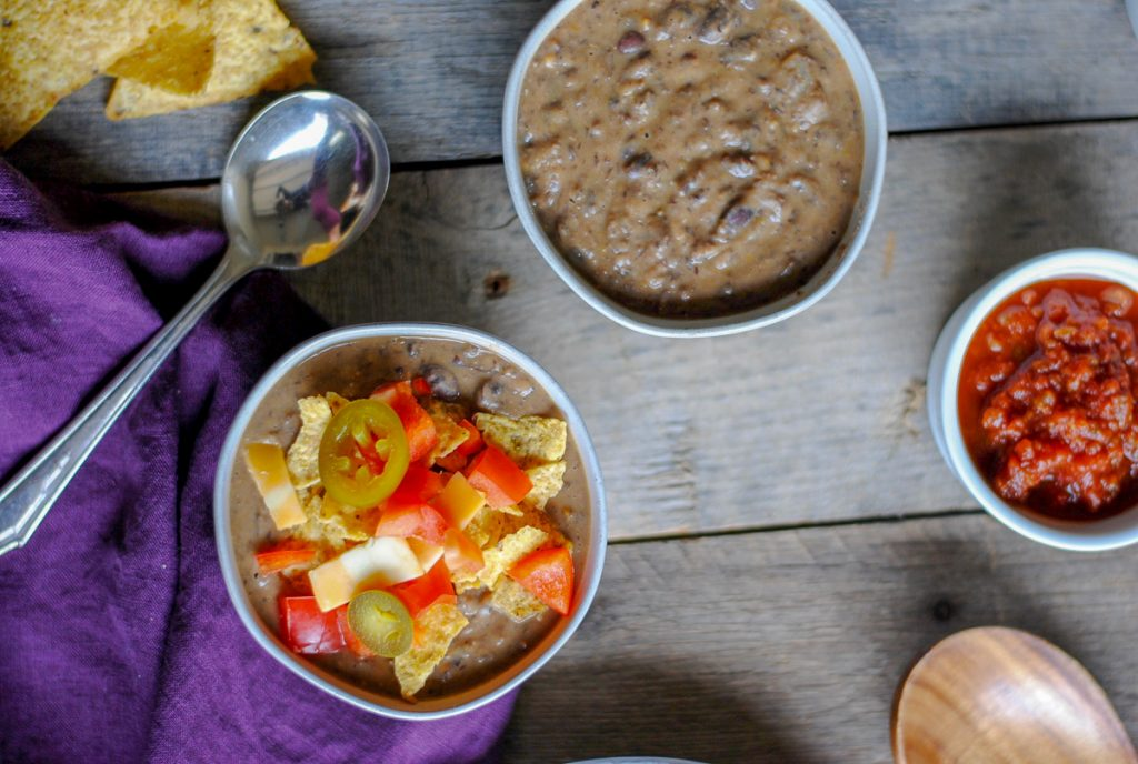 easy loaded black bean soup recipe