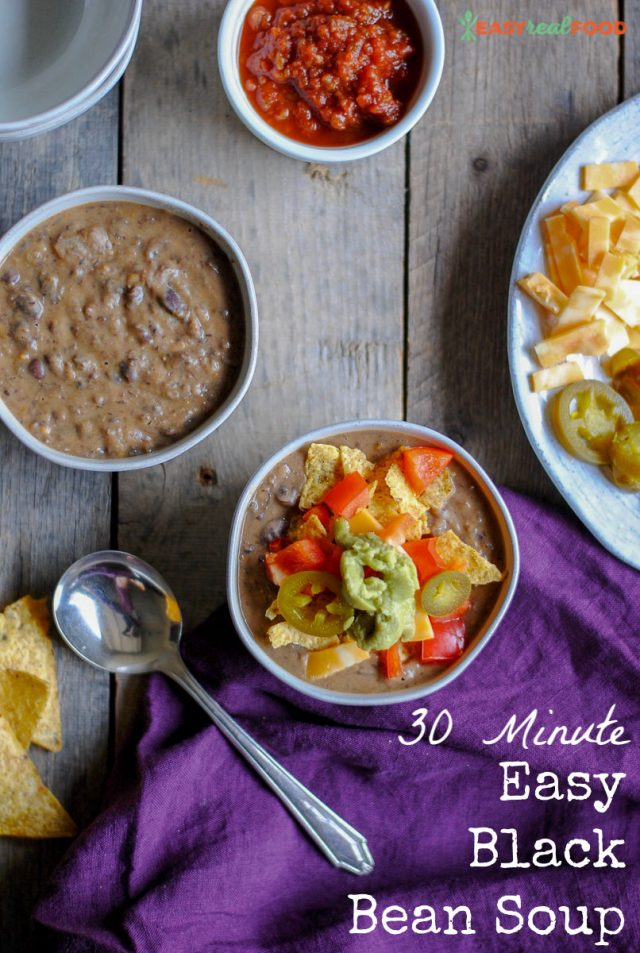 tasty easy 30 minute black bean soup