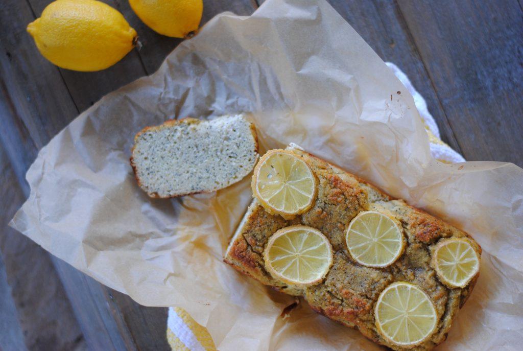 easy lemon poppy seed bread - gluten free and grain free