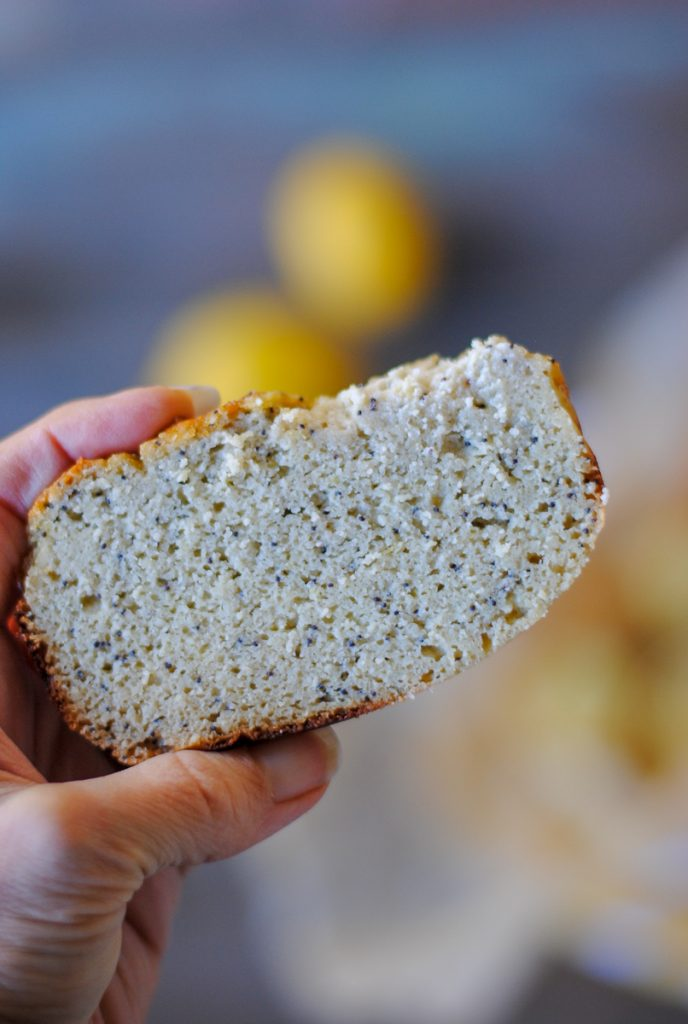delicious, easy paleo lemon poppy seed bread - refined sugar free