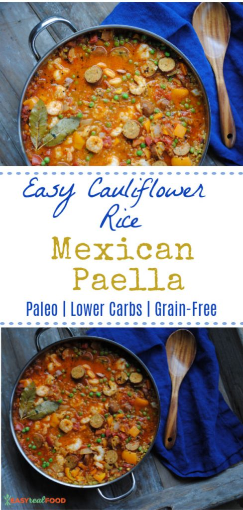 Easy cauliflower rice mexcian paella - paleo, low carb, grain-free