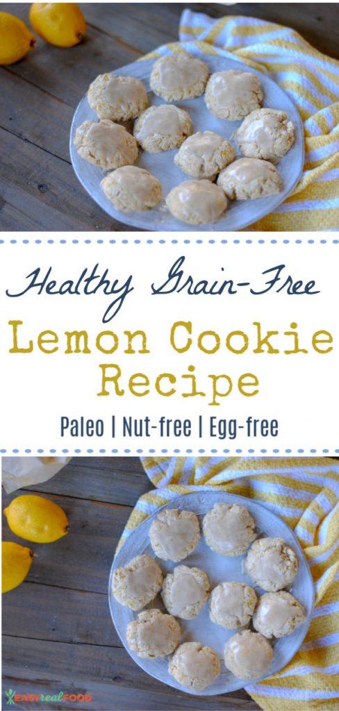 Healthy paleo lemon cookie recipe - nut-free and vegan