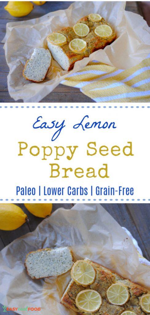 Healthy paleo lemon poppy seed bread - grain free paleo brunch recipe