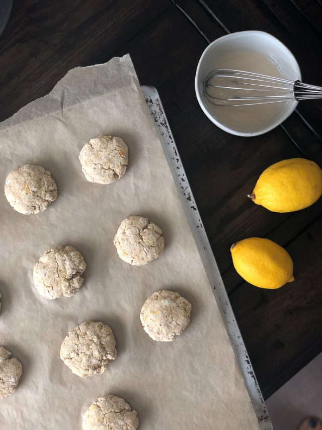 paleo lemon cookies are delicious as is, and nut-free and vegan, too