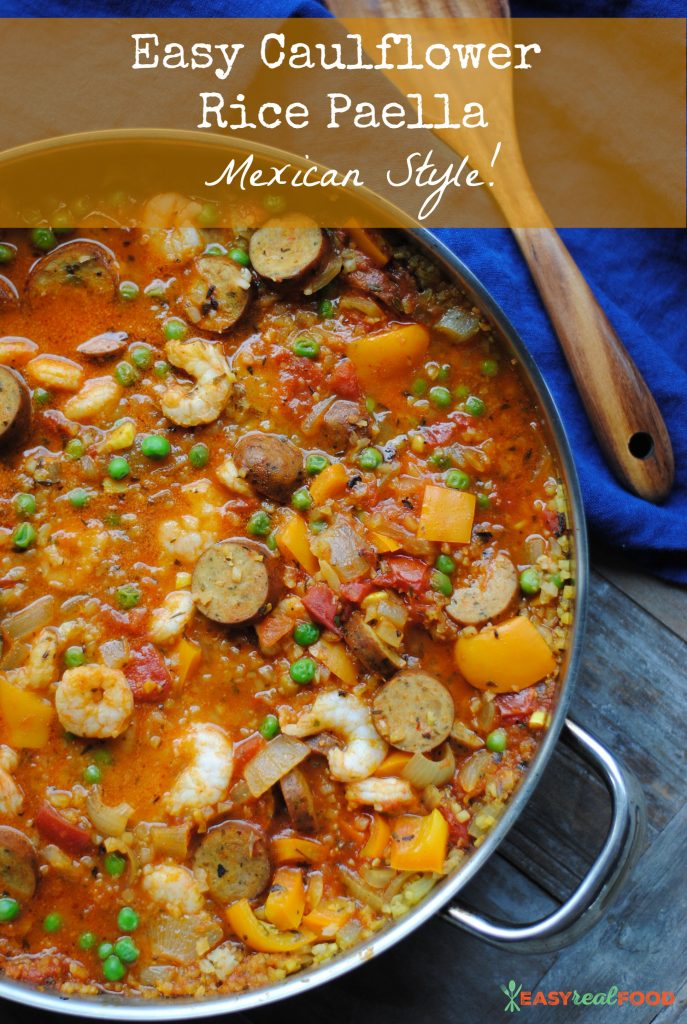 delicious, easy one-pan meal- Mexican paella with Mexican chicken sausage