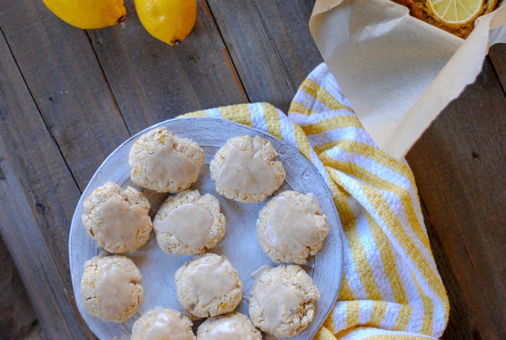 healthy lemon cookie recipe - grain free and gluten free