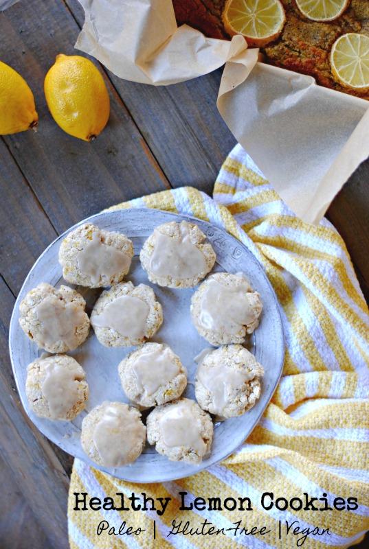 healthy paleo lemon cookies (vegan and nut-free)