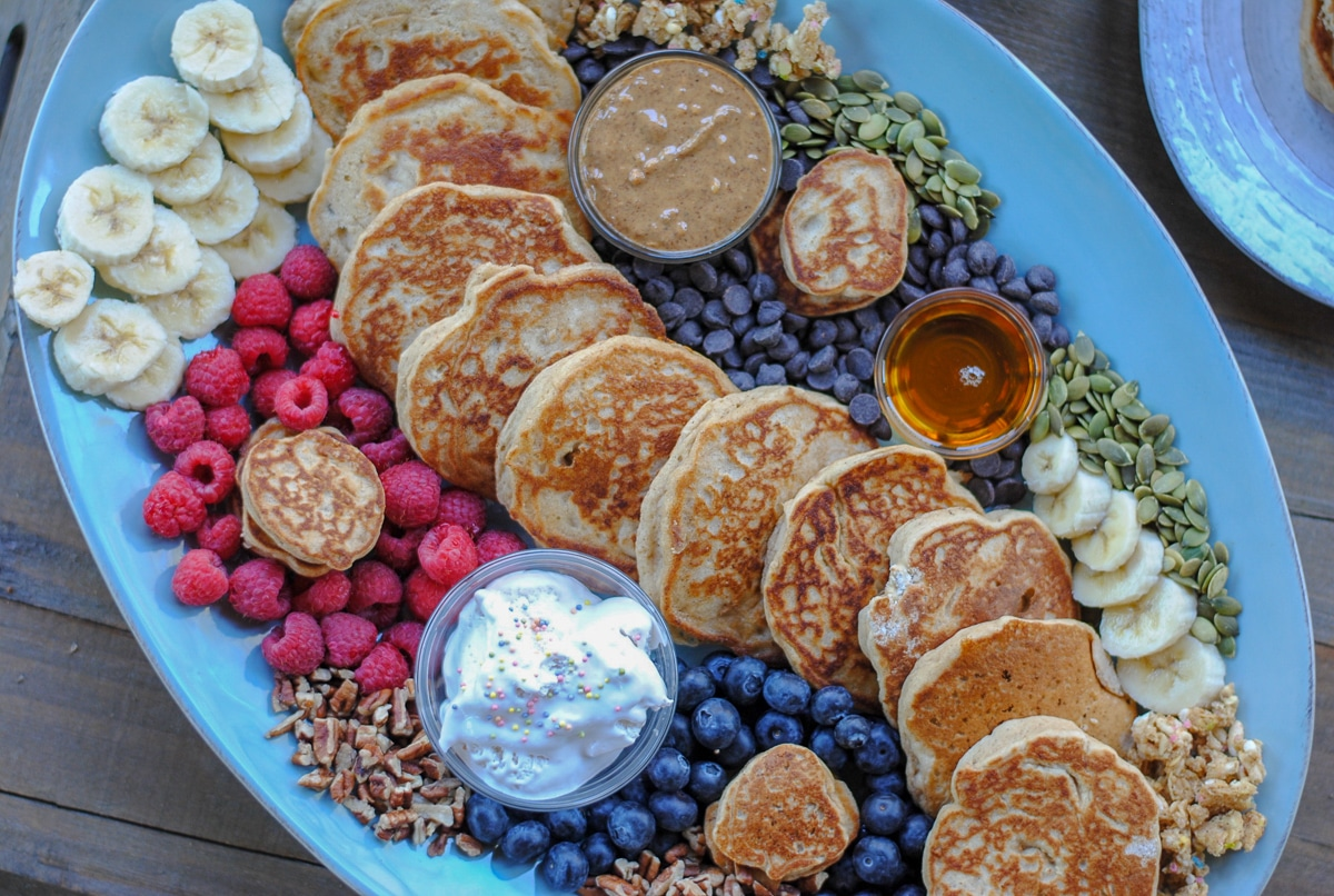 pancake topping ideas for a breakfast board