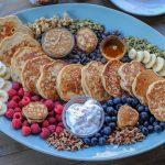 Easy Gluten Free Pancake Recipe + a breakfast board with pancakes